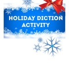 Holiday Diction Activity