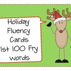 Holiday Fluency Cards (1st 100 Fry Words)