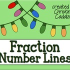 Holiday Lights Fraction Number Lines