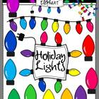 Holiday Lights and Frames Clip Art