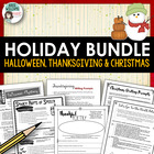 Holiday Literacy Pack - Halloween, Thanksgiving and Christmas