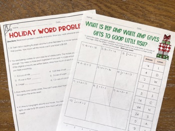 Holiday Math Activities for Middle School