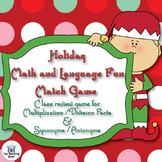 Holiday Math & Language Fun Match Game ~ Common Core Aligned!