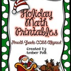 Holiday Math Printables {4th Grade CCSS}