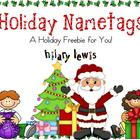 Holiday Nametags FREEBIE