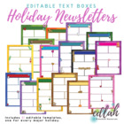 Holiday Newsletter Template Mega Pack