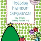 Holiday Number Sequence - Math Work Station
