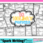 Holiday Poster Pack for an ENTIRE YEAR {18 posters}