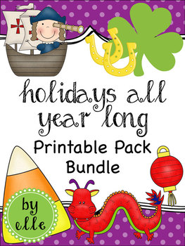 Holiday Printables All Year Long Bundle