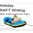 Holiday RAFT Writing (Role, Audience, Format, Topic) PDF