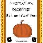 Holiday Roll and Color Game Boards