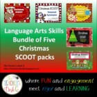 Holiday SCOOT Bundle of Five Language Arts Skills Packs
