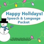Holiday Speech & Language Activities
