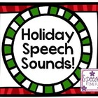 Holiday Speech Sounds!