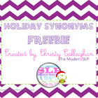Holiday Synonyms Freebie