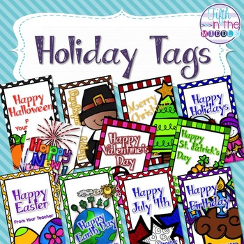 Holiday Tags - From Your Teacher Pack