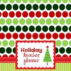 Holiday Teacher Planner Fun Polka Dots