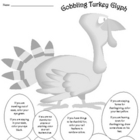 Holiday Thanksgiving November Turkey Glyph
