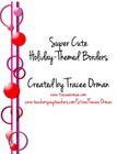 Holiday Themed Circle Stripes Border Clip Art