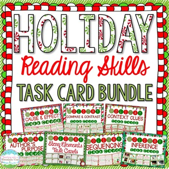 Holiday Reading Skill Task Cards MEGA Bundle { Winter and Christmas }