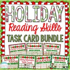 Holiday Themed Reading Skill Task Cards MEGA Bundle { Wint