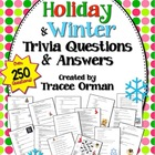 Holiday Trivia Challenge Handouts for ALL Content Areas