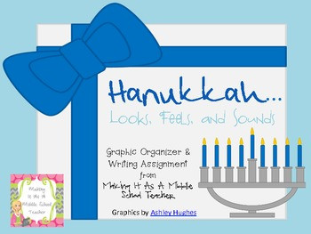 Holiday Writing Activity ~ Hanukkah...Looks, Feels, & Sounds....