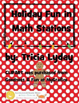 Holiday/Christmas Fun Math Stations