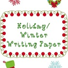 Holiday/Winter Writing Paper