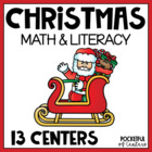 Holly Jolly Christmas Math & Literacy Work Stations