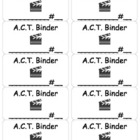 Hollywood ACT Binder Labels