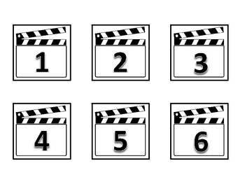 Hollywood Calendar Numbers (Clapboard)