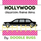 Hollywood Classroom Theme Items {calendar cards, desk plat
