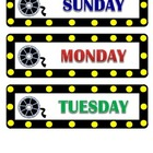Hollywood - Movie Theme Days of the Week
