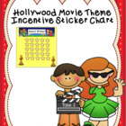 Hollywood Movie Theme Incentive Sticker Chart