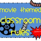 Hollywood Movie Themed Classroom Rules Posters
