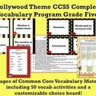 Hollywood Theme Grade Five CCSS Complete Vocabulary Program