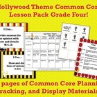Hollywood Theme Grade Four Common Core Lesson Planning Pack
