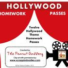 Hollywood Theme Homework Passes/Coupons