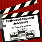 {Hollywood-Theme Job Chart} 24 Classroom Jobs and Blanks
