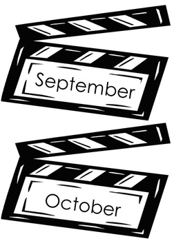Hollywood Theme Months of the Year