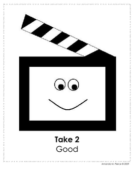 Hollywood Themed Behavior Clip Chart AND Take Home Chart