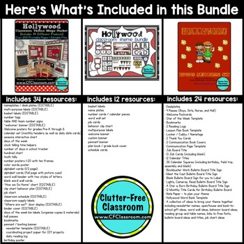 Hollywood Themed Classroom Kit ~ Ideas and Printables