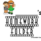 Hollywood Themed Homework Folder Labels