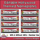 Hollywood Themed Nameplate/Deskplate/Nametag