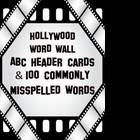 Hollywood Themed Word Wall with 100 Commonly Misspelled Words