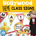 Hollywood theme class signs (Back to School decorations)