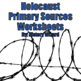 Holocaust Primary Sources Webquest Worksheets