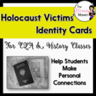Holocaust Victims Identity Cards - Common Core Aligned