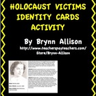Holocaust Victims Identity Cards Activity